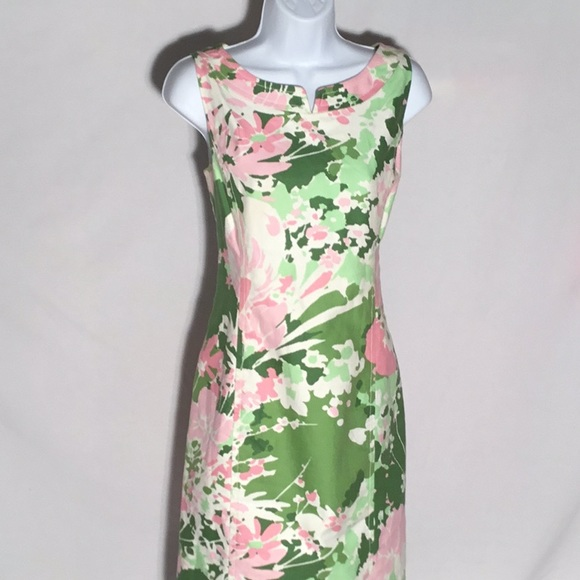 fd70a99b Talbots Pink and Green Floral Dress. M_5abe857f36b9de7f4d6e520e. Other  Dresses ...